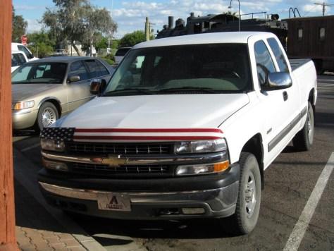 Einer der vielen Pickup Trucks