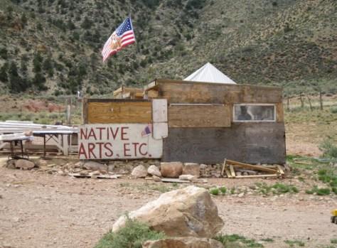 Ein Verkaufsstand der Navajo