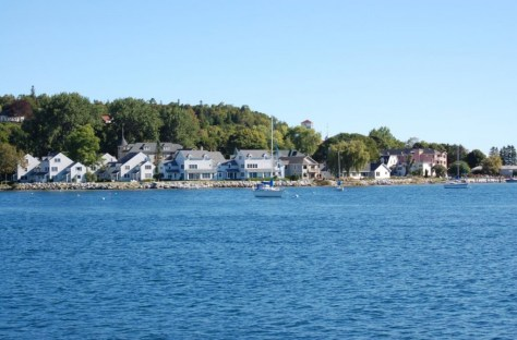 Erster Blick auf Makinac Island