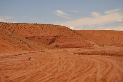 "Unsere ""Straße"" zum Antelope Canyon"