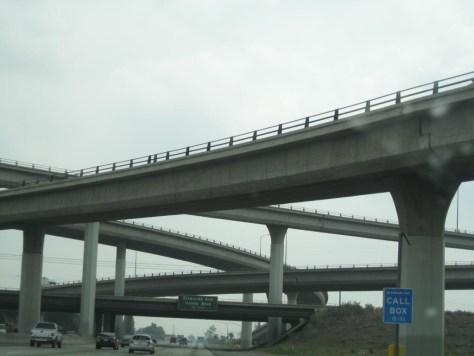 Typische Autobahnsituation in Los Angeles