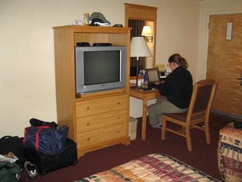 Zurück im Hotel, schnell das Tagebuch schreiben.