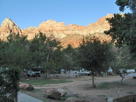 Blick von unserem Motel aus