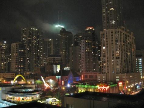 Nachtblick von der Dachterrasse