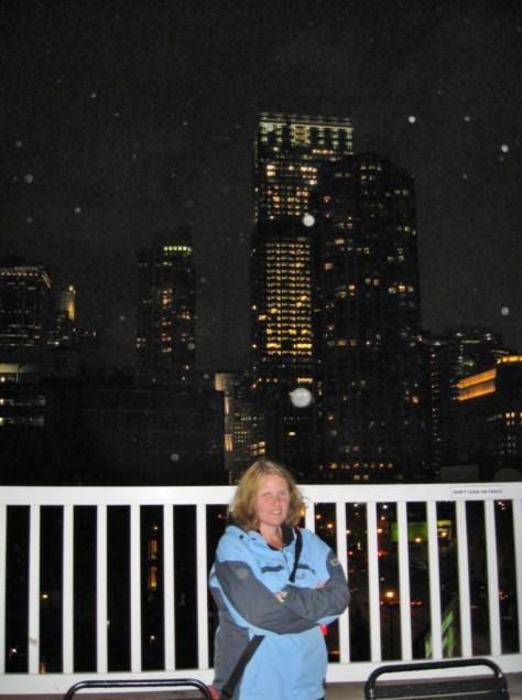 Jutta ist glücklich auf der Dachterrasse des Hotels :-)