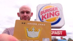 CARTE GOLD DU BURGER KING