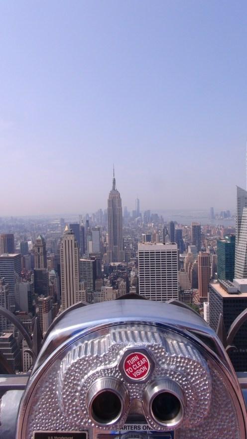 VUE DE NEW-YORK DEPUIS LE TOP OF THE ROCK