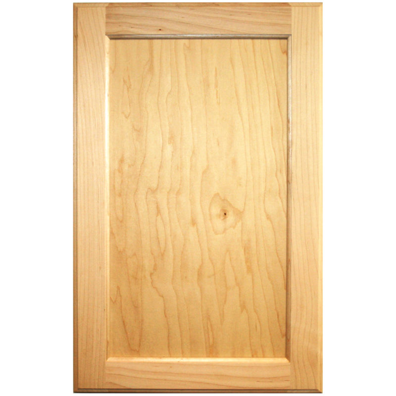 Unfinished Flat Panel Paint Grade Maple Cabinet Door