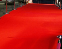 Classic red carpet for special events.