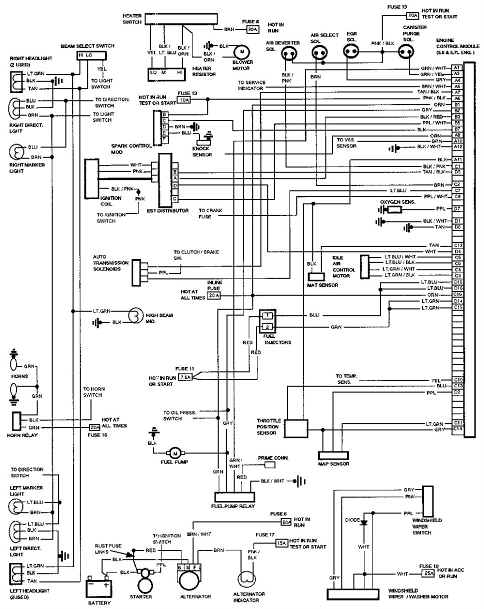 1986 Chevy Caprice Fuse Box Diagram