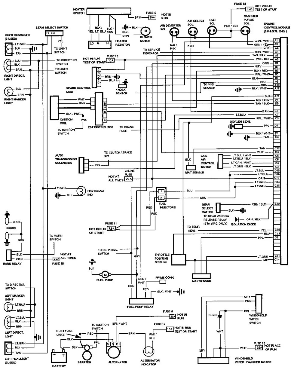 hight resolution of 1993 chevy silverado 1500 fuse diagram