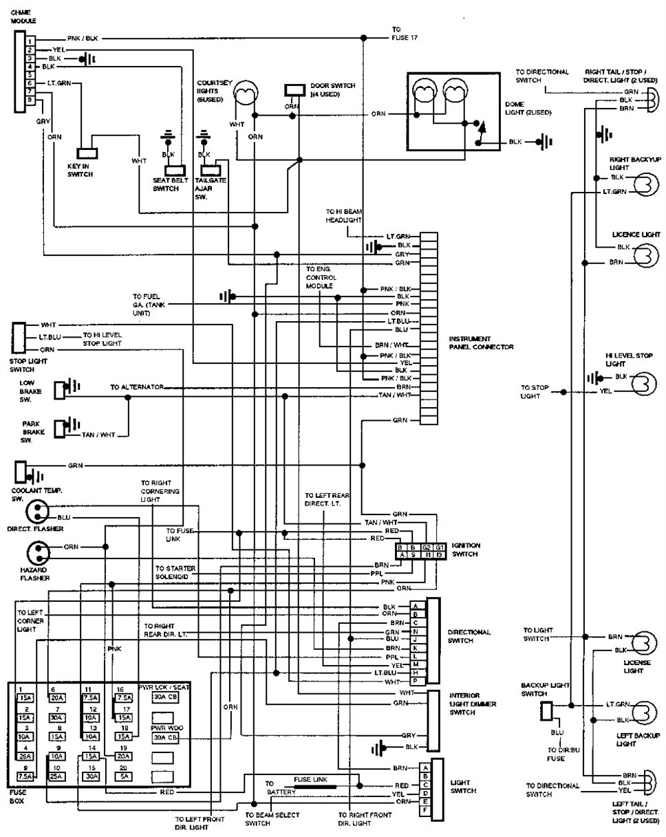 Wiring Diagrams 1993 Dodge Dakota example target market