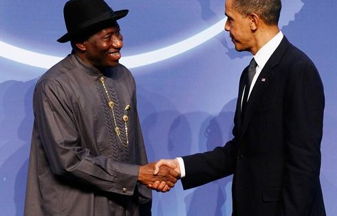 USAfrica: Obama meets African leaders, Nigeria's Jonathan and Gabon's Ondimba