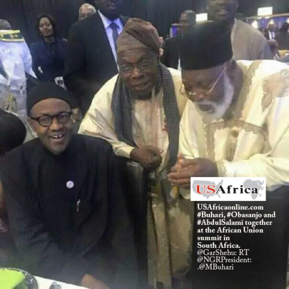Nigeria's incumbent and former rulers, retired Generals Buhari-Obasanjo-Abdulsalami-in-SouthAfrica-june2015-IMG_4746