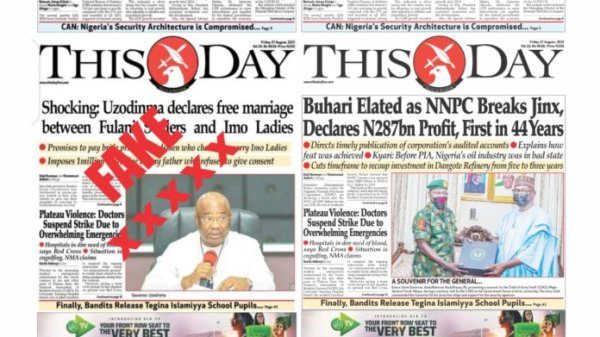 ThisDay dismisses fake edition by counterfeiters, unscrupulous people