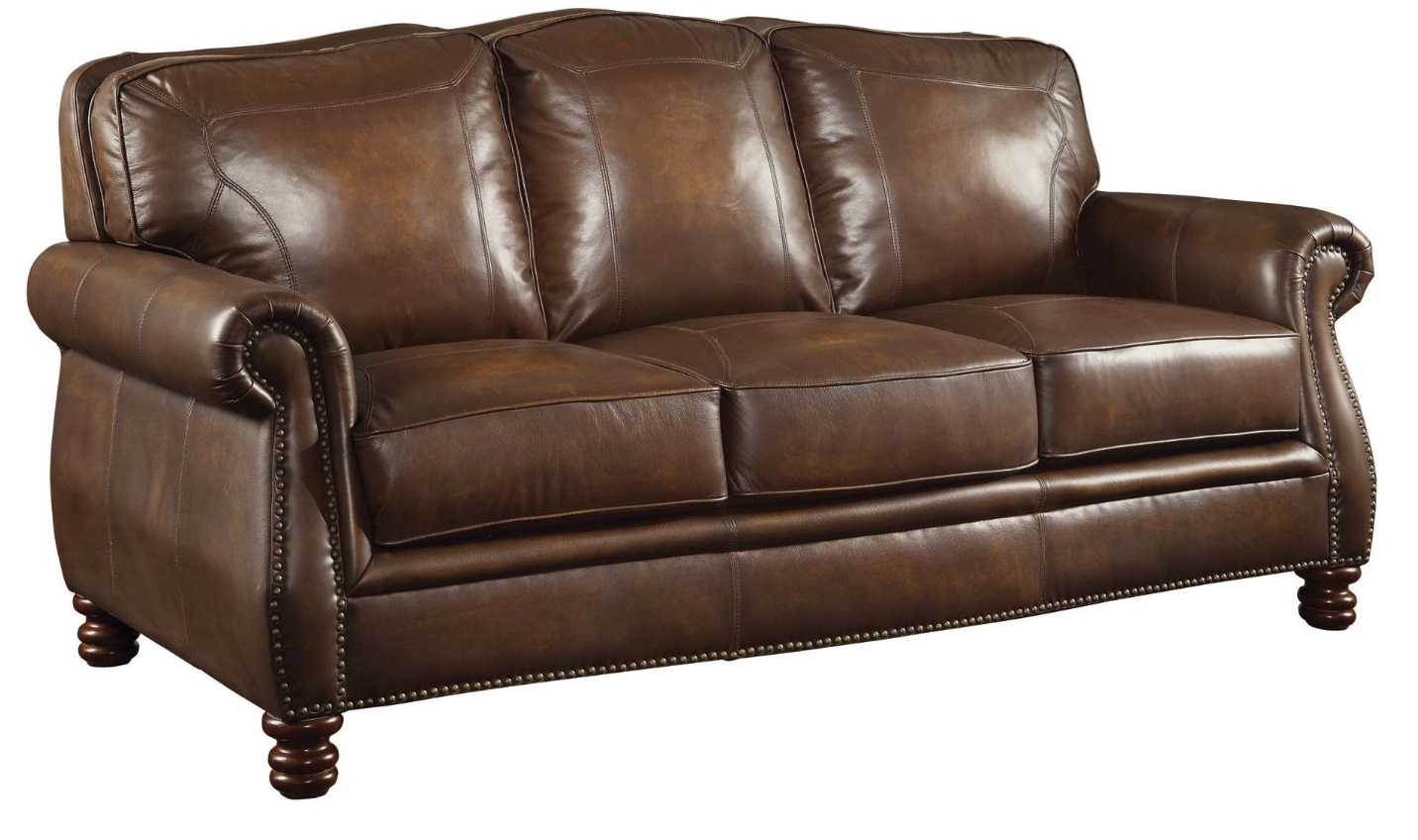 Brown Leather Chair Coaster Furniture Montbrook Brown Leather Sofa 503981