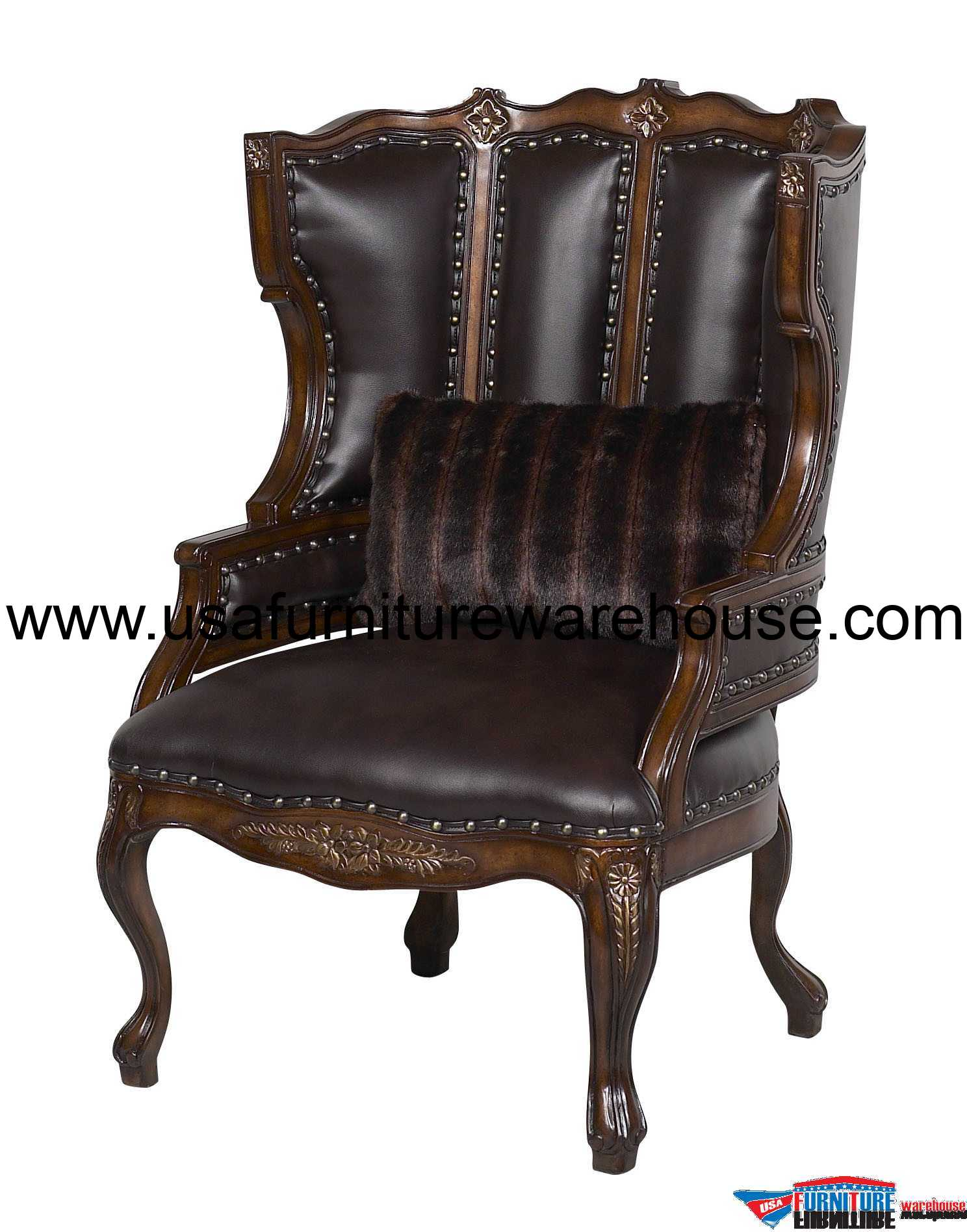 Wood Accent Chair Benetti 39s Italia Cavali Wood Trim Accent Chair
