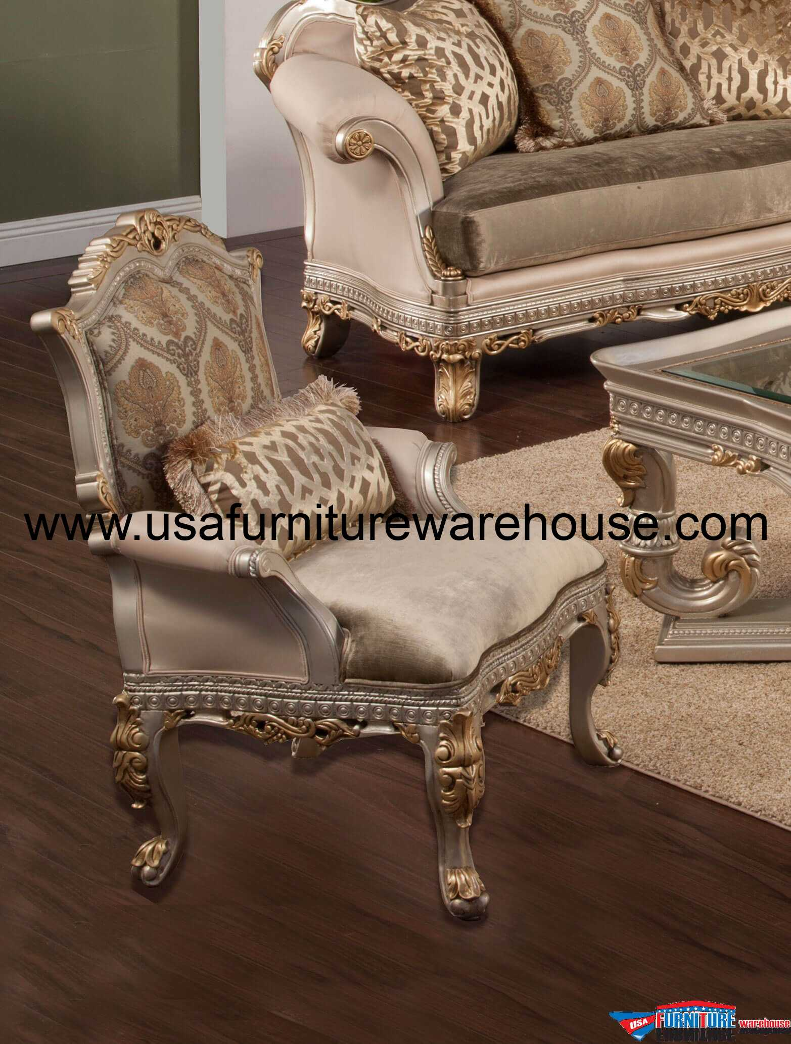 Gold Accent Chairs Benetti 39s Italia Ornella Accent Chair In Silver And Gold