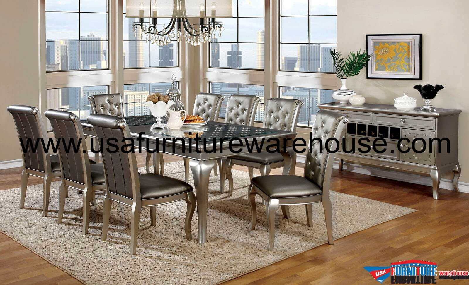 Silver Dining Chairs Furniture Of Amrica Amina Amina Silver Dining Chair
