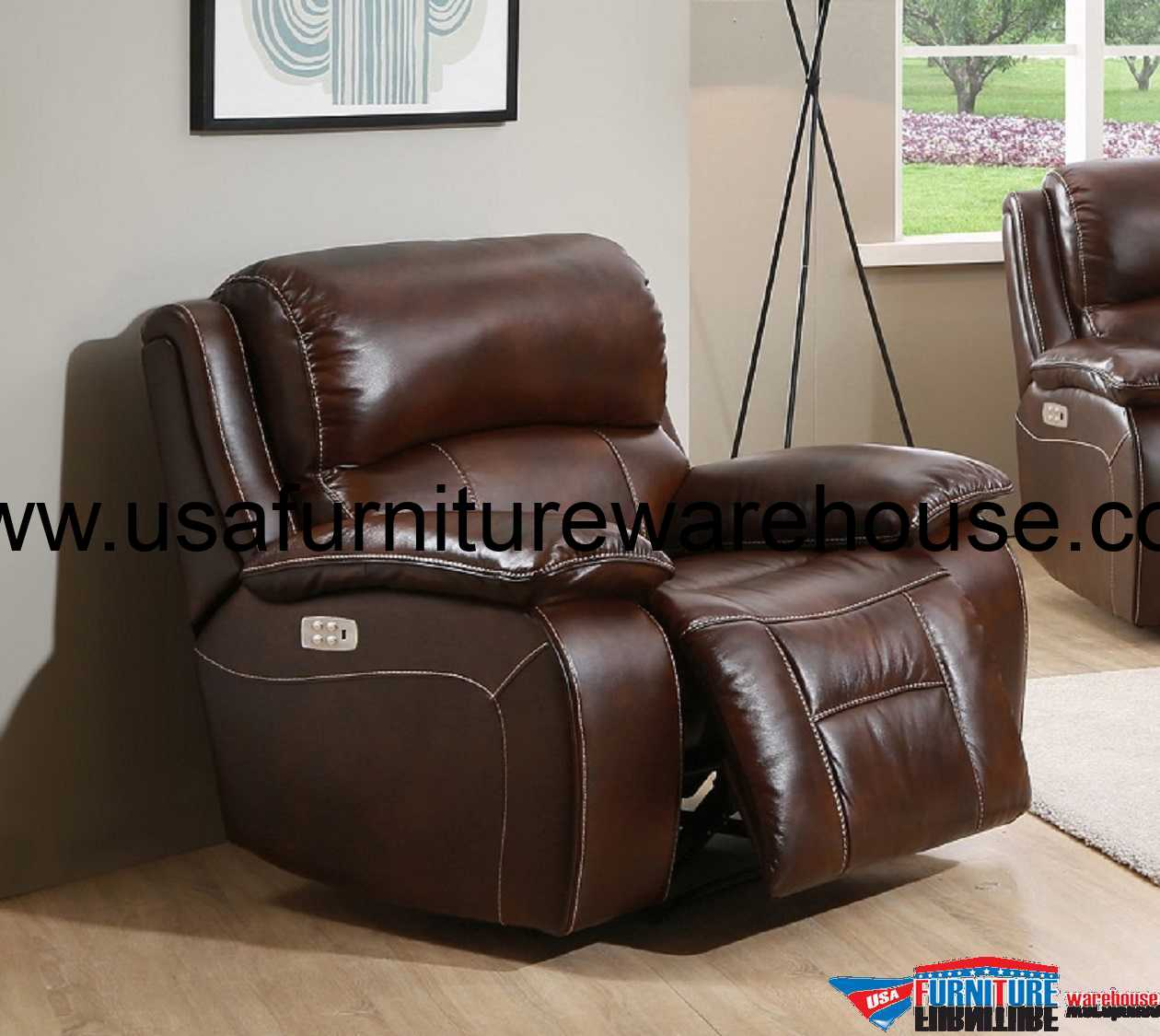Real Leather Recliner Chairs Westminster Genuine Leather Power Recliner With Power Headrest
