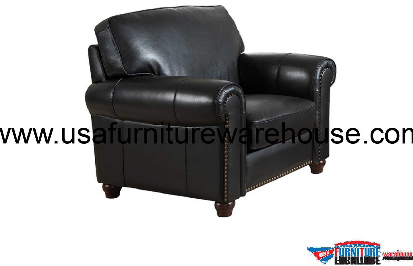 Best Leather Chairs Barbara Full Top Grain Black Leather Chair Usa Furniture