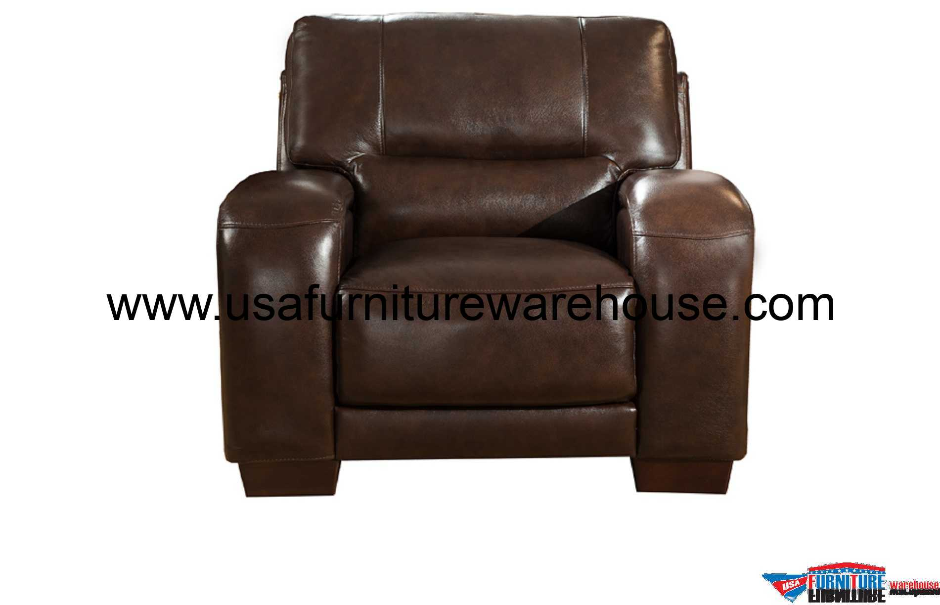 Best Leather Chairs Brigitte Full Top Grain Dark Brown Leather Chair