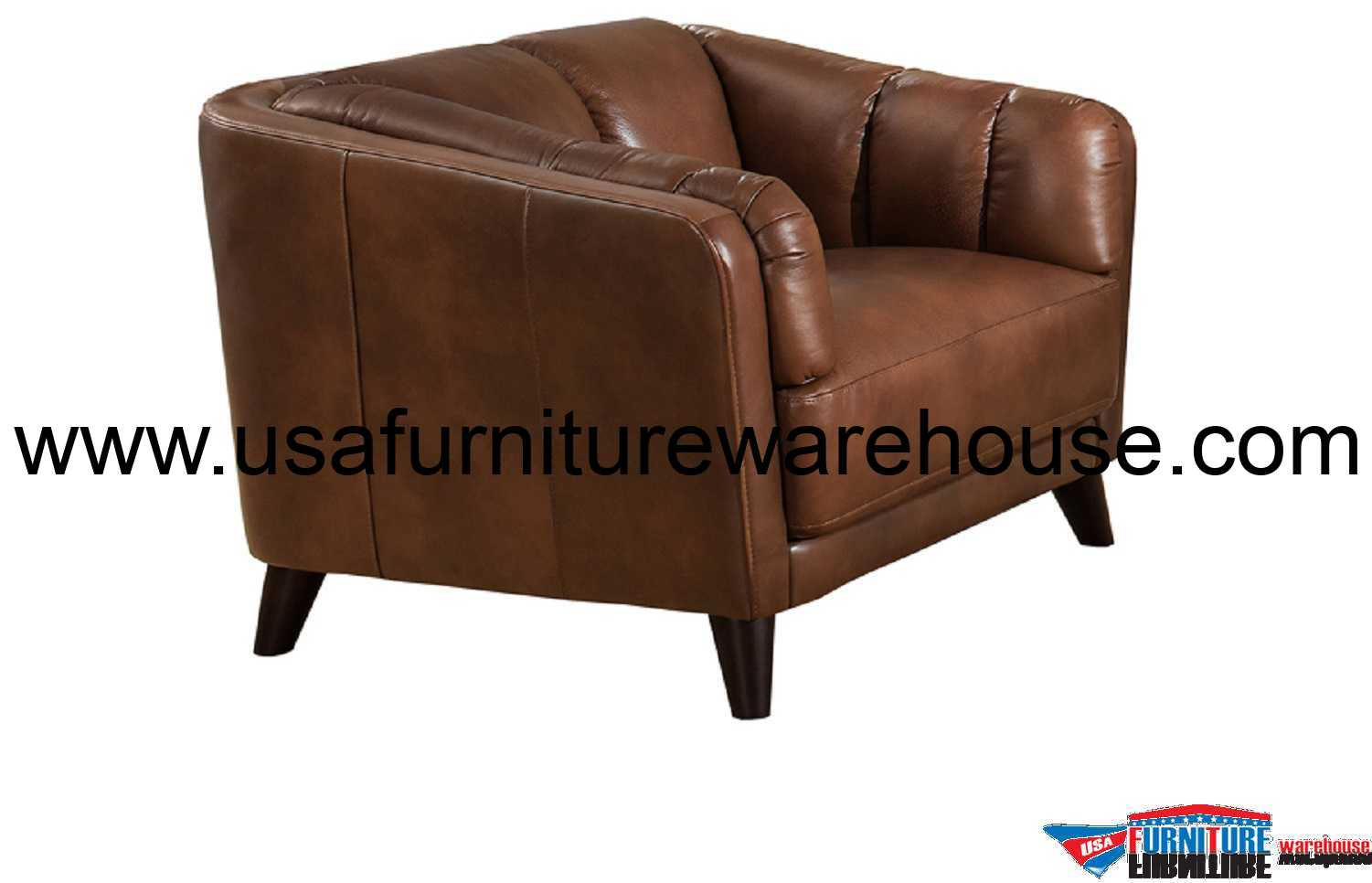 Top Grain Leather Office Chair Frances Full Top Grain Brown Leather Chair