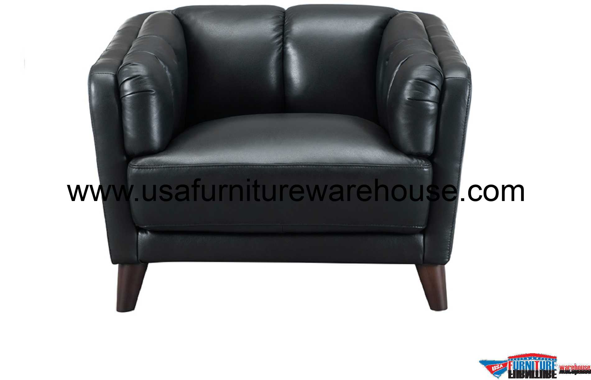 Best Leather Chairs Frances Full Top Grain Black Leather Chair