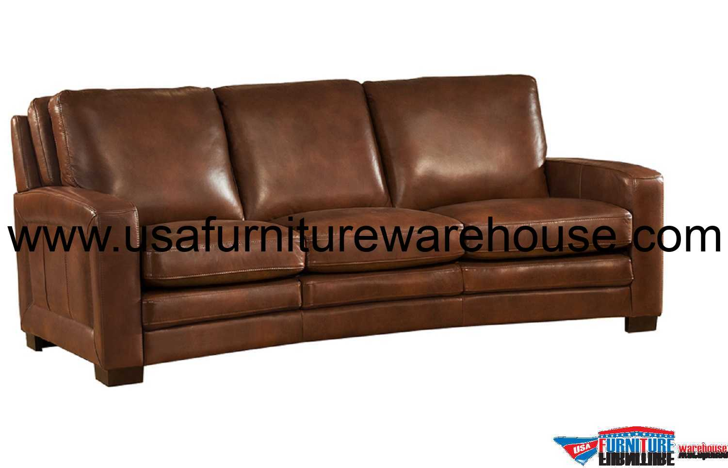 Brown Leather Chair Joanna Full Top Grain Brown Leather Sofa