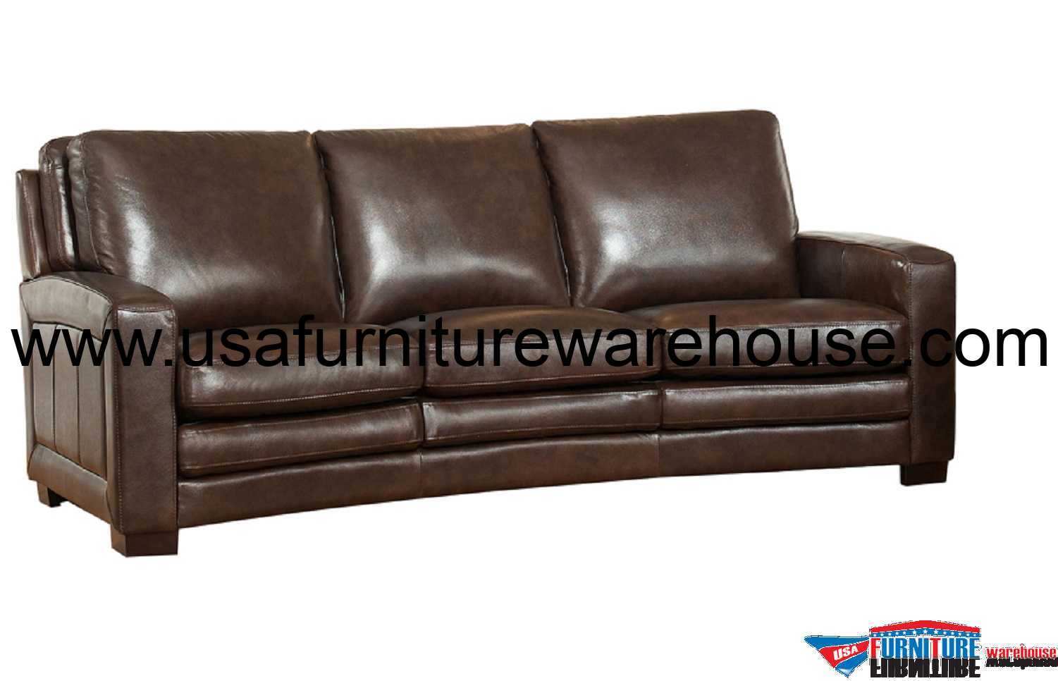 Brown Leather Chair Joanna Full Top Grain Dark Brown Leather Sofa