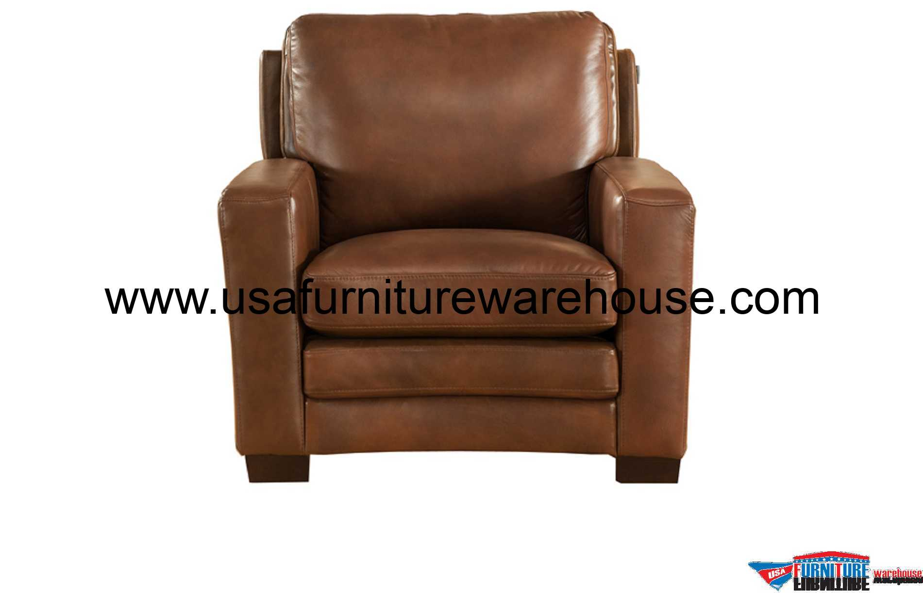 Best Leather Chairs Joanna Full Top Grain Brown Leather Chair Usa Furniture