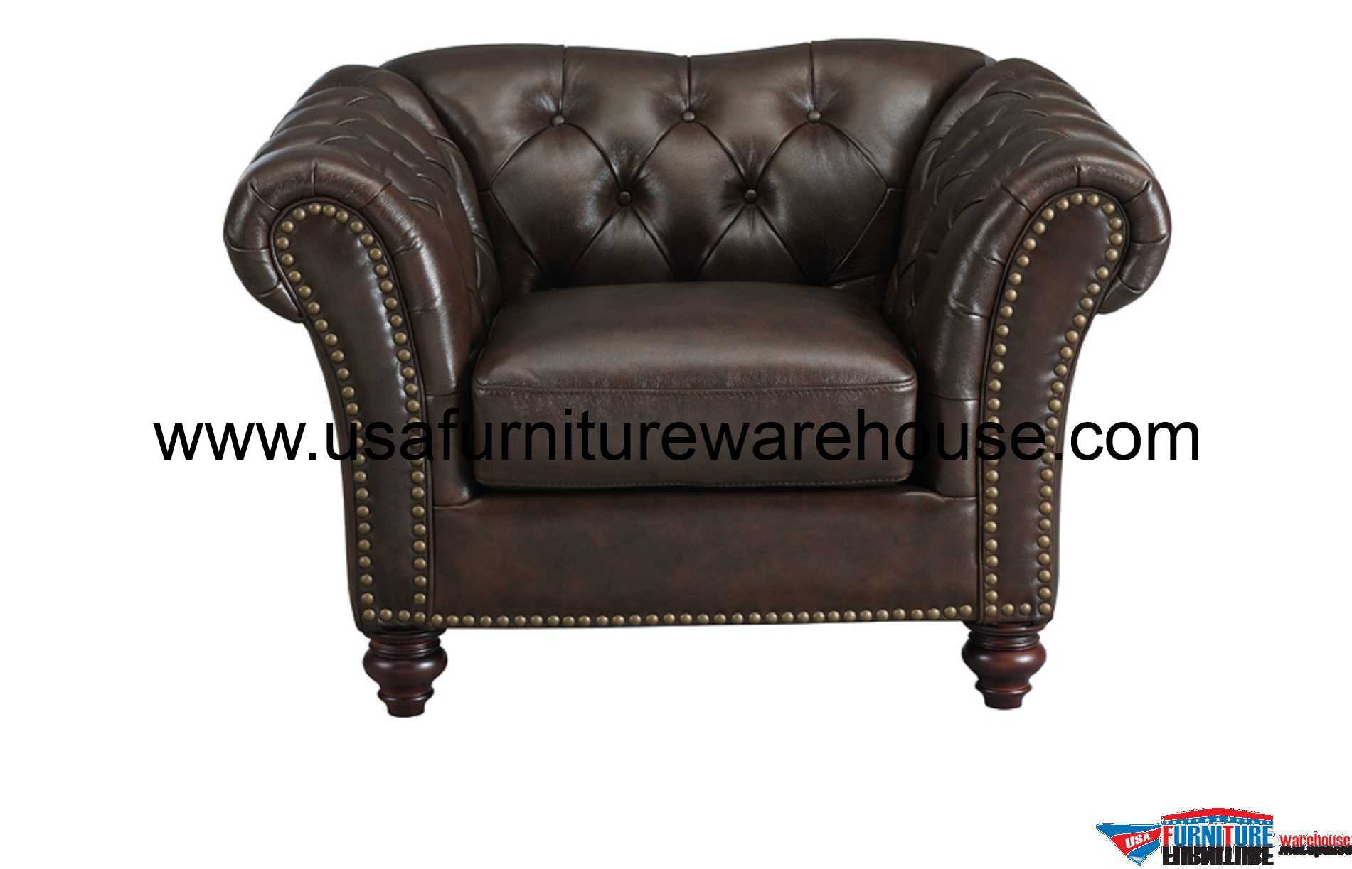 Best Leather Chairs Mona Full Top Grain Dark Brown Leather Chair