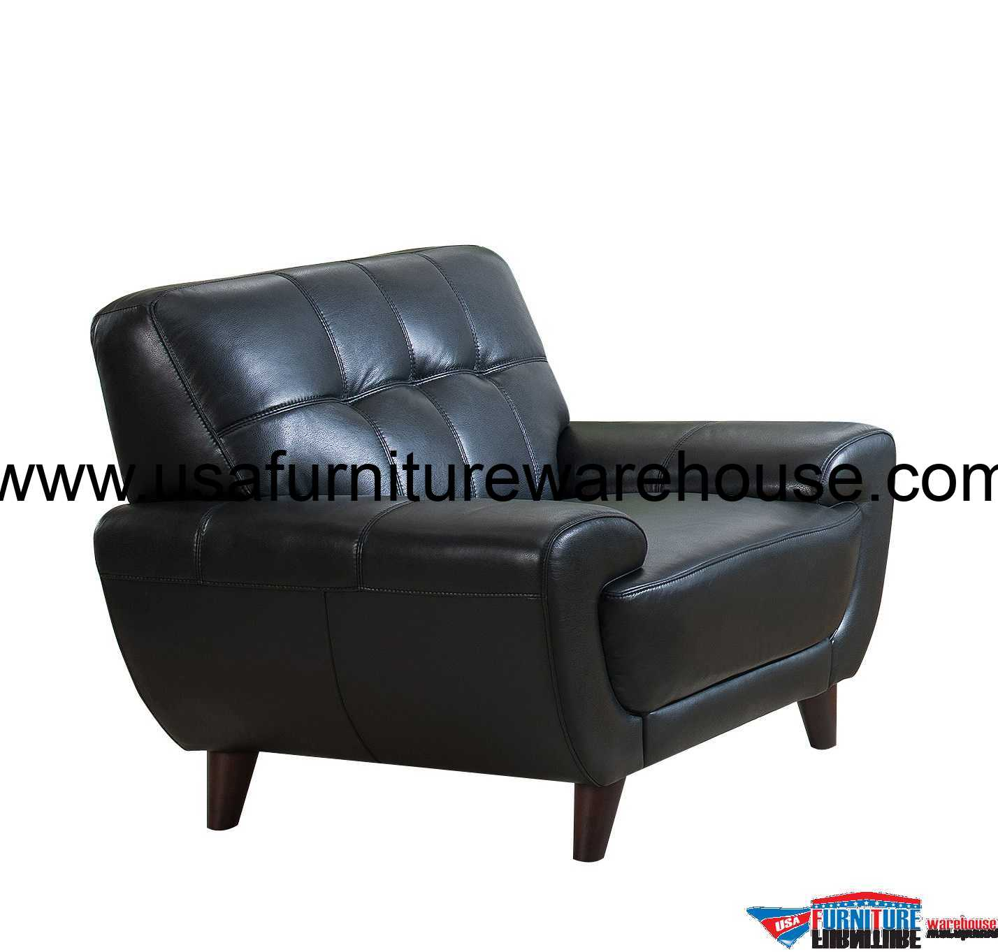 Top Grain Leather Office Chair Nicole Full Top Grain Black Leather Chair