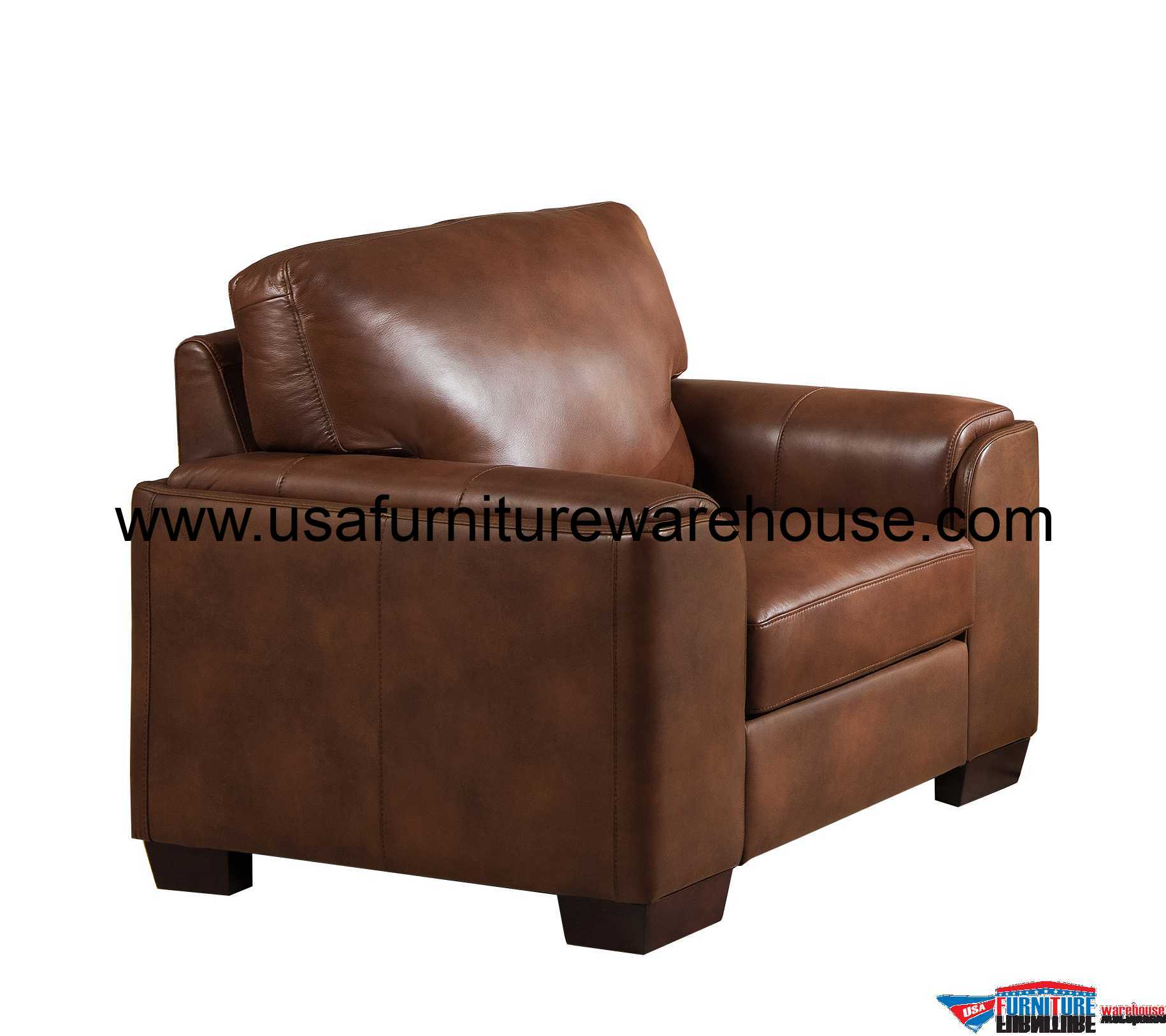 Best Leather Chairs Suzanne Full Top Grain Brown Leather Chair