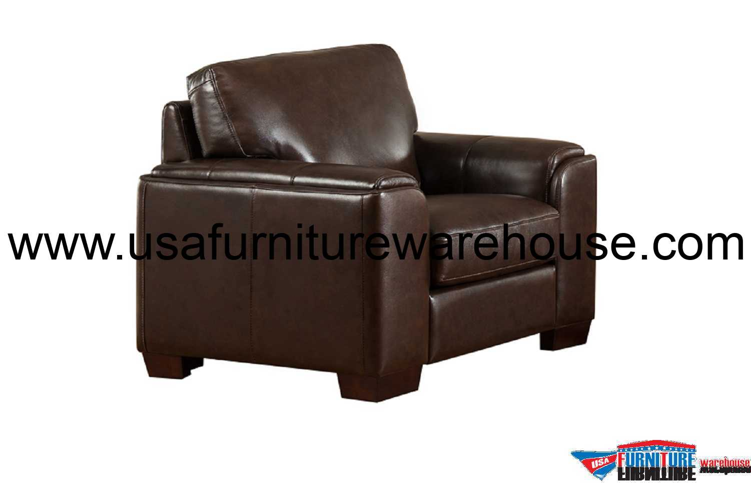 Best Leather Chairs Suzanne Full Top Grain Dark Brown Leather Chair