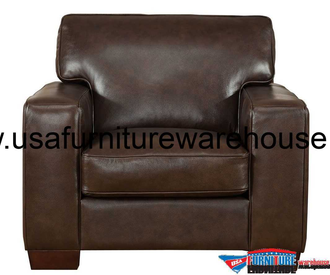 Best Leather Chairs Kimberlly Full Top Grain Dark Brown Leather Chair