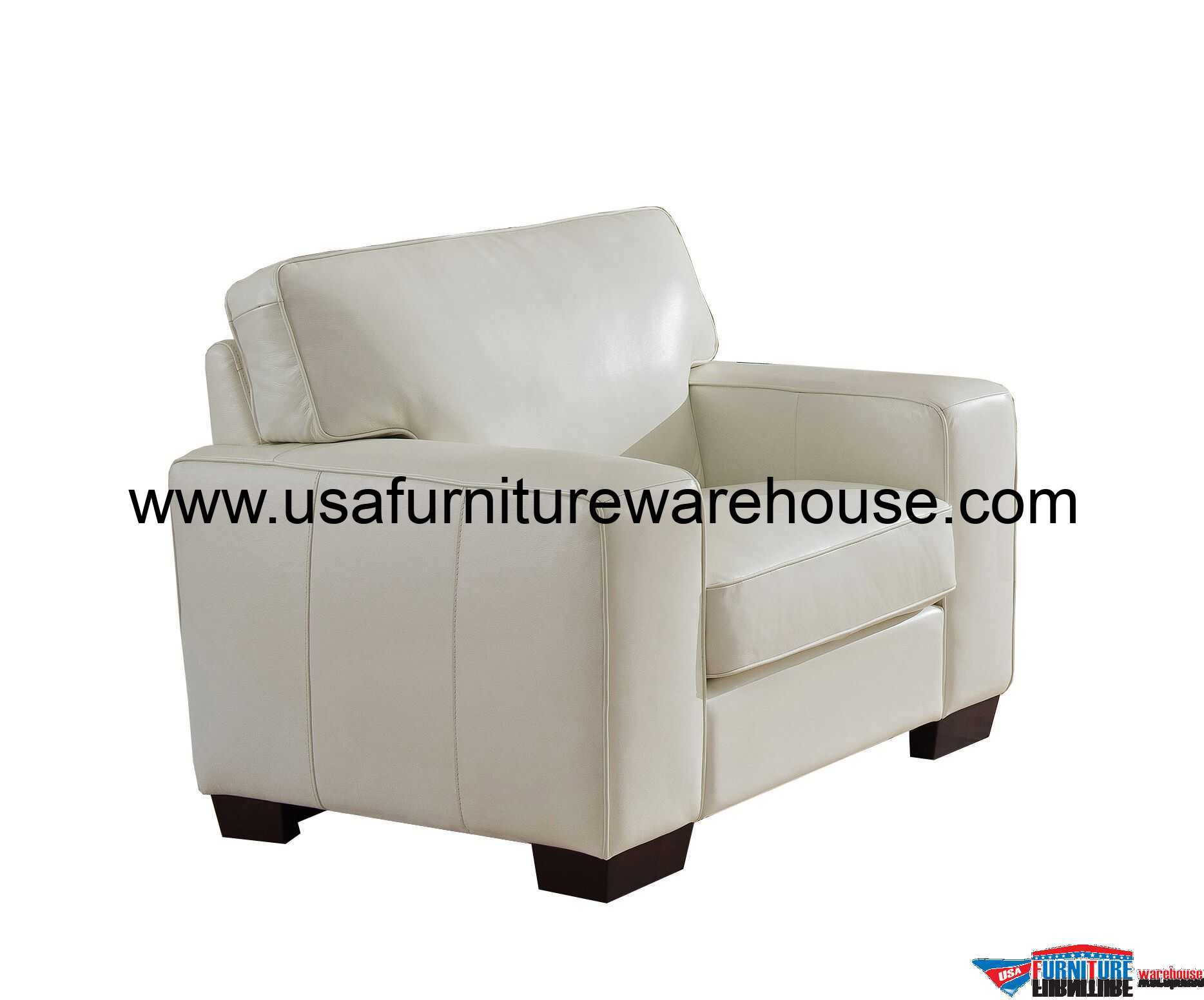 White Leather Chairs Kimberlly Full Top Grain Ivory White Leather Chair