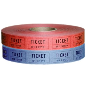 Single Roll Raffle Tickets