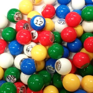 Single Number 5 Color 7/8 Inch Bingo Balls