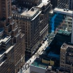 Aerial View of 5th Avenue, New York City, USA