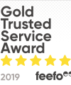 2019 Gold Trusted Service Award by Feefo