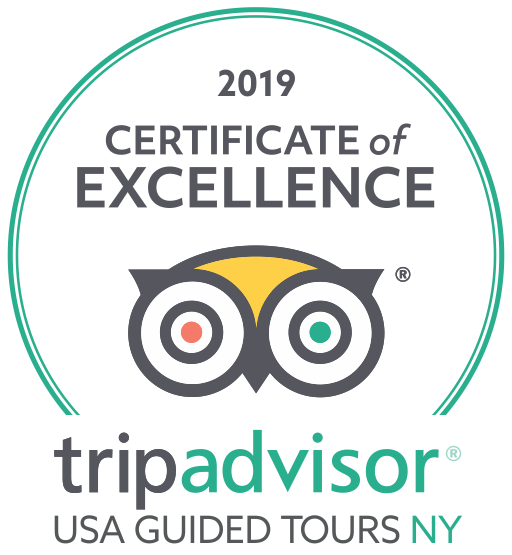 2019 TripAdvisor Certificate of Excellence | USA Guided Tours NY