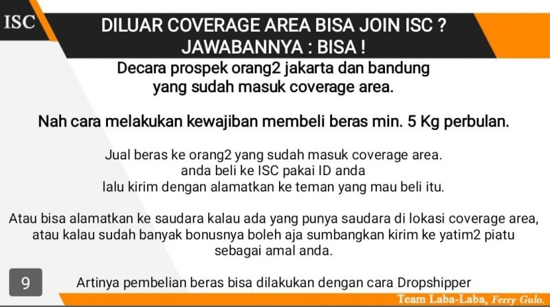 member isc diluar coverage area