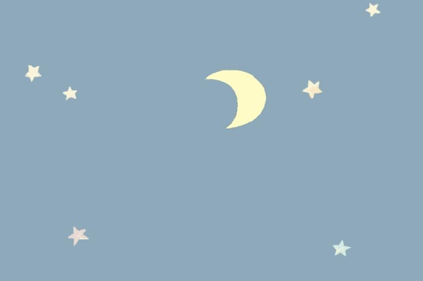 1コマ目。 夜空の絵