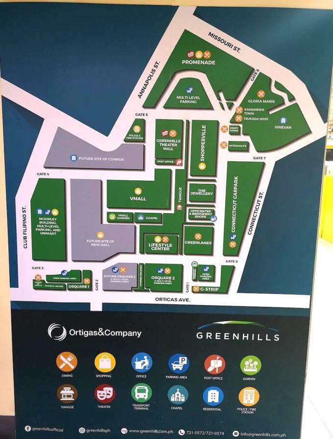 Green Hils shopping center mall Map