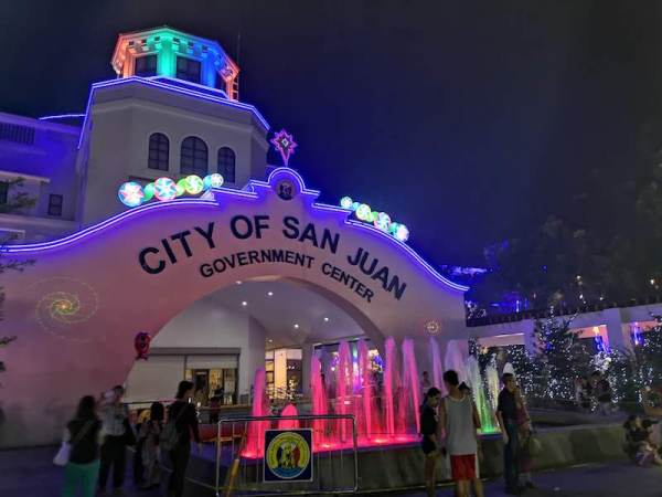 San Jaun CityのChristmas displayのライトアップ