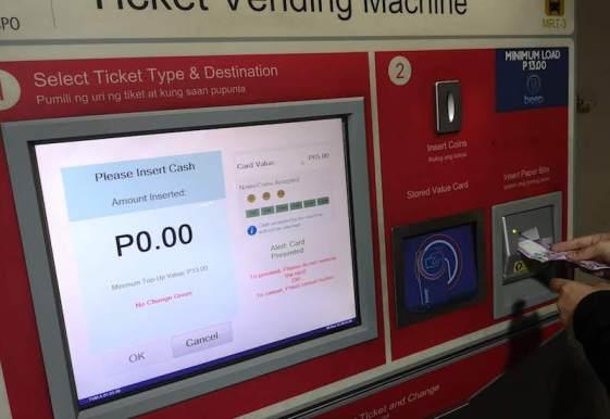 フィリピンの電車(MRT/LRT)のbeep cardのチャージ方法2