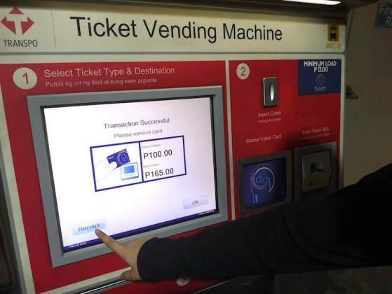 フィリピンの電車(MRT/LRT)のbeep cardのチャージ方法4