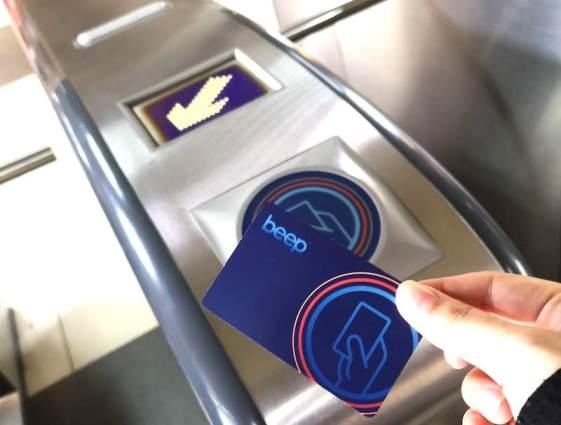 フィリピンのLRTのBeep Card