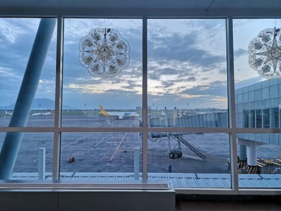 フィリピンクラーク国際空港の飛行機